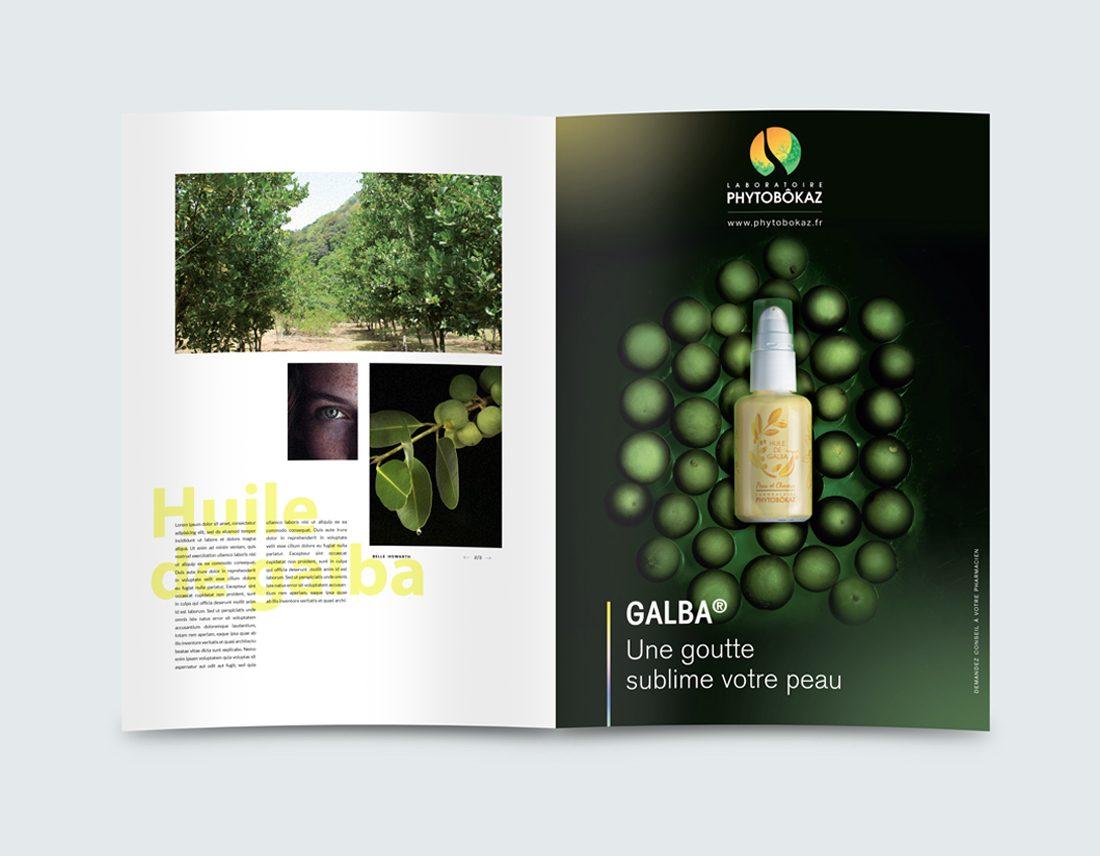 Annonce-presse Huile de Galba. Laboratoires Phytobôkaz.