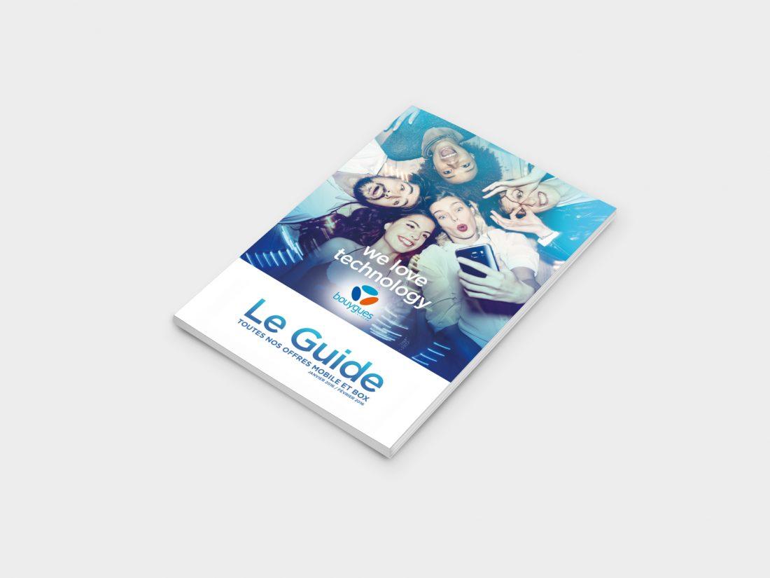 Direction artistique du Guide consommateur Bouygues Telecom;